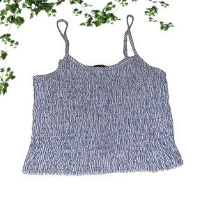Brandy Melville Striped Cinched Cropped Tank Top